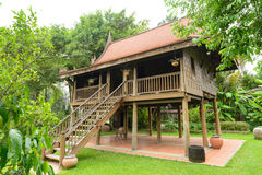 Antique Wood house of thailand style Royalty Free Stock Photo
