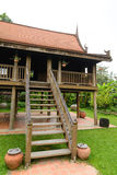 Antique Wood house of thailand style Stock Photography