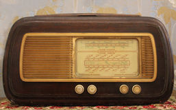 Antique wood radio Stock Photos