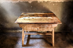 Antique wood table Stock Photo