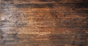 Antique Rustic Wood Texture Background. A used, old and worn wood banner background with stains and scrathes Stock Images