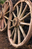 Antique Wood Wagon Wheels. Royalty Free Stock Image