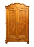 Antique wood wardrobe isolated on white Stock Images
