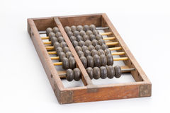 Antique wooden abacus on white Stock Images
