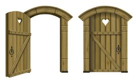 Free Antique Wooden Arched Door Fantasy Royalty Free Stock Photo - 156645265