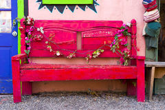 Antique Wooden Bench in New Mexico Stock Images