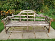 Antique wooden bench stock images