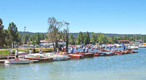 Antique Wooden Boat Show Stock Image