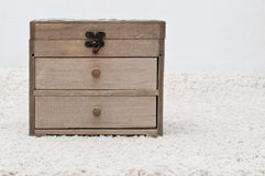 Antique wooden box Stock Image