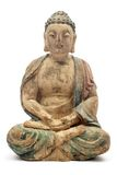 Antique Wooden Buddha Royalty Free Stock Photography