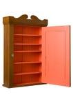 Antique Wooden Cabinet - 3/4 Right - Open Door Stock Photography
