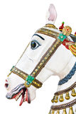 Antique wooden carousel horse head Stock Images