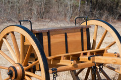 Antique Wooden Carriage Stock Photo