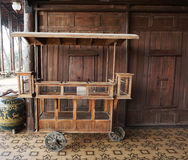 Antique wooden cart for goods Royalty Free Stock Images