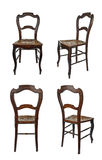 Antique wooden chair - four views Royalty Free Stock Photos