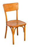 Antique wooden chair. Isolated on white background. File contains a clipping path stock images