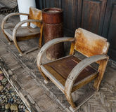 Antique wooden chair royalty free stock images