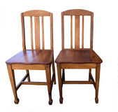 Antique Wooden Chairs Royalty Free Stock Photography