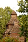 Antique wooden chapel. At ethnographic museum, Ukraine Royalty Free Stock Photography