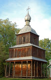 Antique wooden chapel. At ethnographic museum Pereiaslav Royalty Free Stock Image