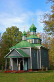 Antique wooden chapel. At ethnographic museum Pereiaslav Stock Photography