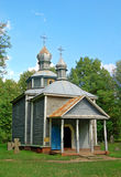 Antique wooden chapel Stock Photography