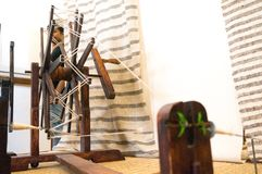 Free Antique Wooden Charkha Spindle For Making Cloth In India Stock Photos - 154005383