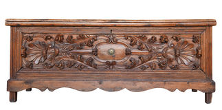 Antique wooden chest Stock Photo