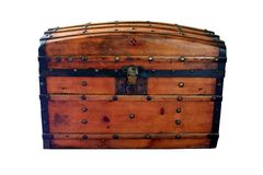 Antique wooden chest Royalty Free Stock Image