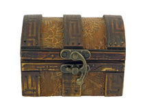 Antique wooden chest Stock Photos
