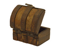 Antique wooden chest Royalty Free Stock Photos