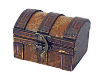 Antique wooden chest stock image