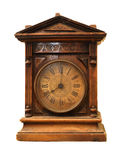 Antique wooden clock Stock Photography