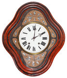 Antique wooden clock Royalty Free Stock Photos