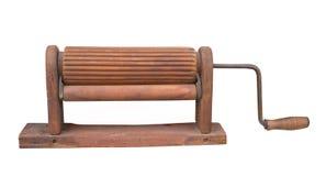 Antique wooden clothes wringer stock photo