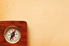 Antique wooden compass Royalty Free Stock Images