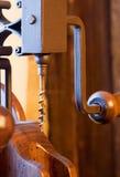 Antique wooden corkscrew Royalty Free Stock Photos