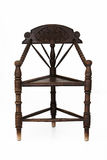 Antique wooden corner chair Stock Images