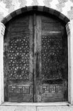 Antique wooden door Stock Photos