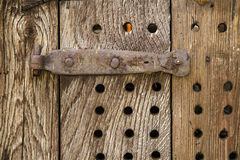 Antique wooden door Royalty Free Stock Images