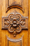 Antique wooden door Royalty Free Stock Photography