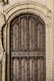 Antique wooden door. Wooden antique door of historic Papal Palace, Avignon, France royalty free stock photography
