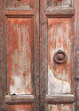 Antique wooden door Royalty Free Stock Image