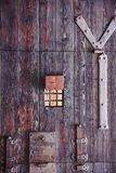 Antique wooden door texture Royalty Free Stock Photos