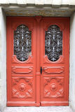 Antique wooden door in Wittenberg, Germany Royalty Free Stock Images