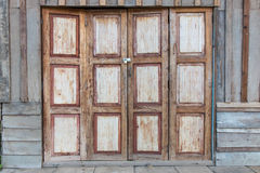 Antique Wooden Doors And Windows. Royalty Free Stock Images