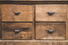 Antique Wooden Drawers Royalty Free Stock Photos