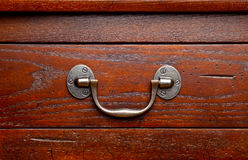 Antique wooden drawers detail Royalty Free Stock Photos