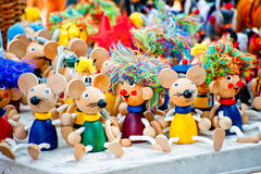 Free Antique Wooden Figurines Toys At The Fair Stock Images - 41663744