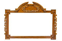 Antique wooden frame Stock Photos